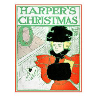 Postcard: Harper's Christmas by Edward Penfield