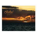 Postcard: Hawaii Sunset