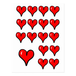 Postcard - Hearts - Love - Flirt - Valentinesday