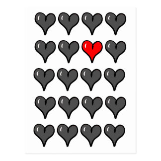 Postcard - Hearts - Love - Flirt - Valentinesday 2