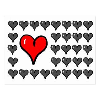 Postcard - Hearts - Love - Flirt - Valentinesday 3