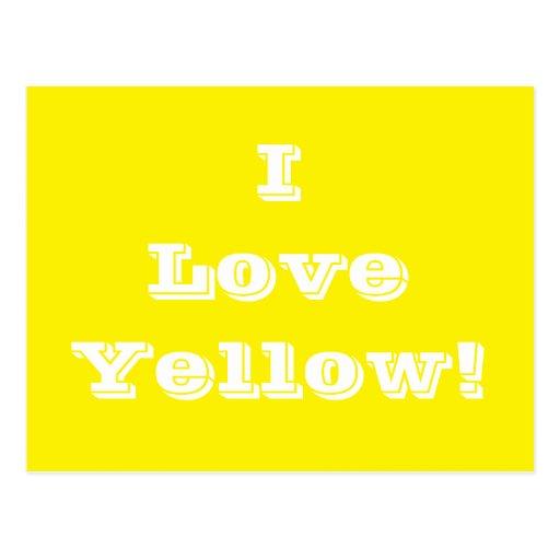 Postcard I Love Yellow