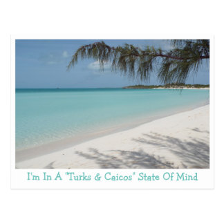 """POSTCARD/""""I'M IN A TURKS & CAICOS"""" STATE OF MIND"""" POSTCARD"""