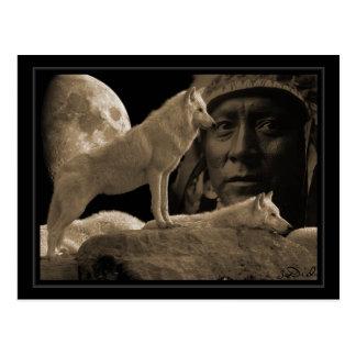 postcard Indian wolf