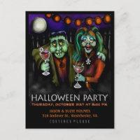 Postcard Invitation - Frankenstein & Date