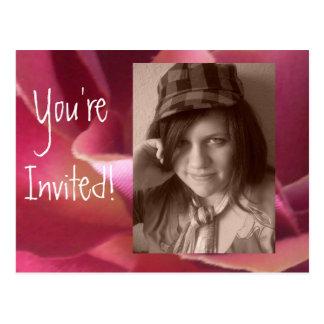 Postcard Invitations Add YOUR photo Birthday/any