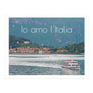 POSTCARD/ ITALIAN LAKE DISTRICT SCENE/I LOVE ITALY POSTCARD