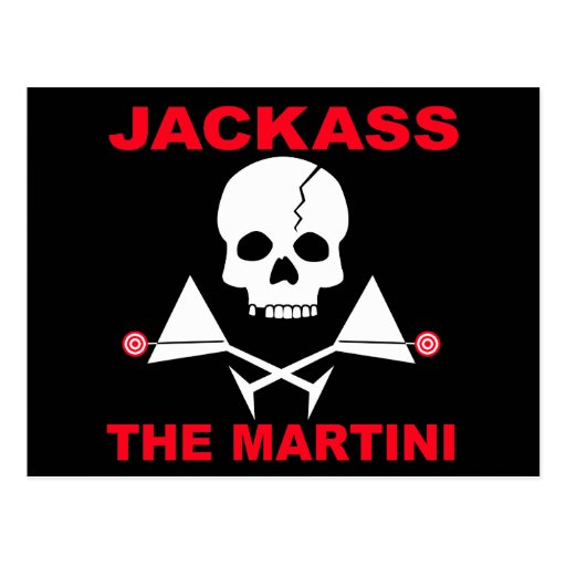 Postcard - JACKASS, The Martini