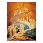 Postcard: Jacob's Ladder - William Blake Postcard