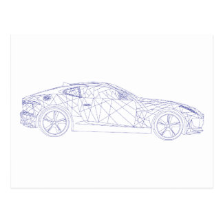 Postcard Jaguar Car