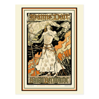 Postcard:  Jeanne d'Arc, Sarah Bernhardt Postcard