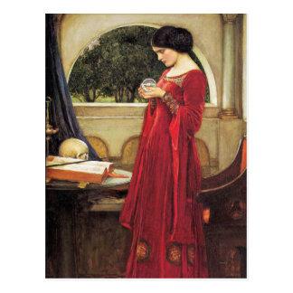 Postcard: John Waterhouse-The Crystal Ball(detail) Postcard