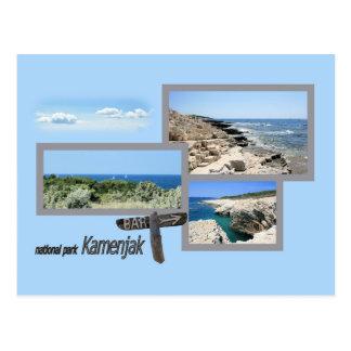 postcard Kamenjak National park, Pula, Croatia