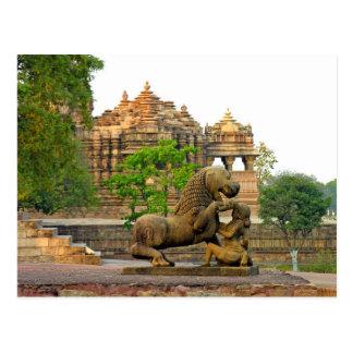 Postcard Khajuraho Monument, Madhya Pradesh, India