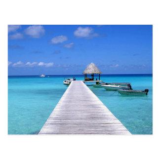 Postcard Kia Ora, Rangiroa Atoll French Polynesia Postal