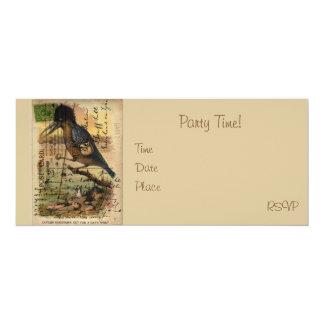Postcard Kingfisher 4x9.25 Paper Invitation Card