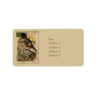 Postcard Kingfisher Label
