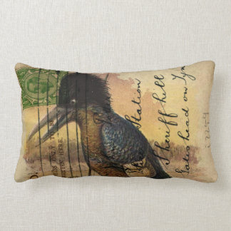 Postcard Kingfisher Lumbar Pillow