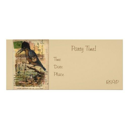 Postcard Kingfisher Personalised Invitations