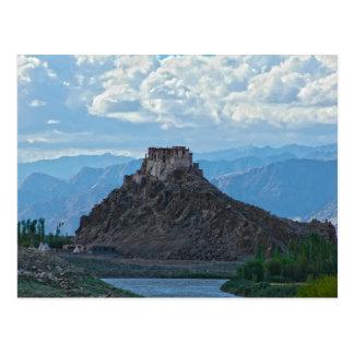 Postcard Ladakh Monastery one Hilltop, India