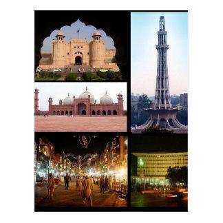 Postcard Lahore Monuments, Punjab, Pakistan