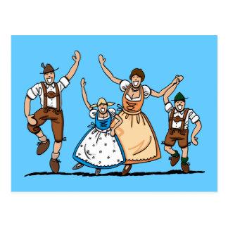 Postcard Lederhosen Dirndl Oktoberfest Family