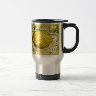Postcard Lemons 15 Oz Stainless Steel Travel Mug