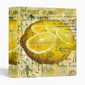 Postcard Lemons 3 Ring Binder