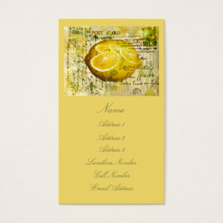 Postcard Lemons Business Card