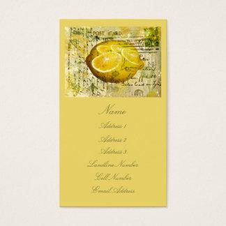 Postcard Lemons Business Card