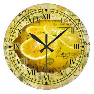 Postcard Lemons Clock