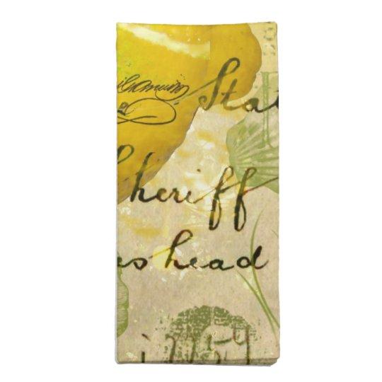 Postcard Lemons Cloth Napkin