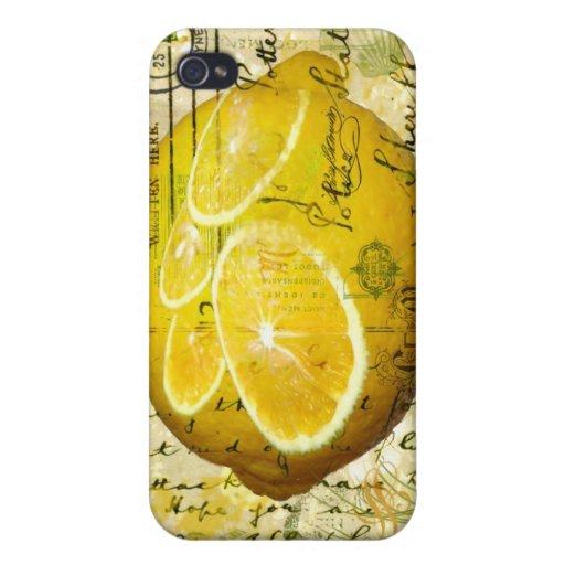 Postcard Lemons Cover For iPhone 4