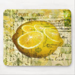 Postcard Lemons Mouse Pad