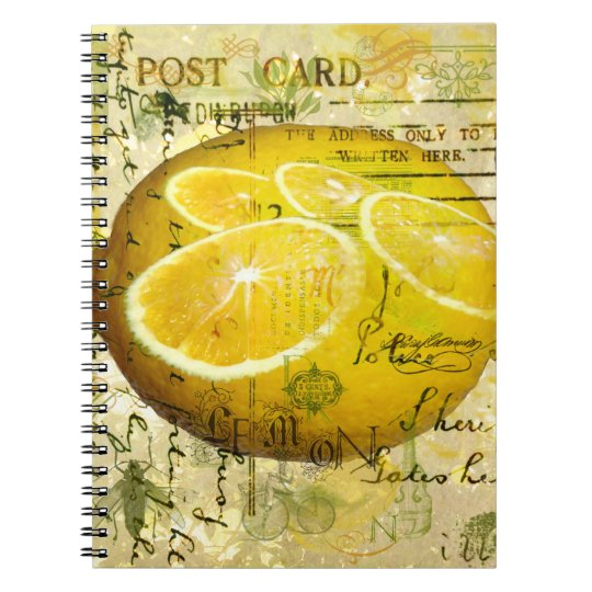 Postcard Lemons Notebook