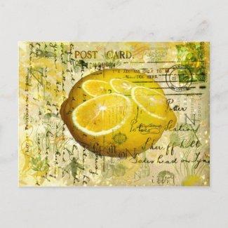 Postcard Lemons Postcard postcard