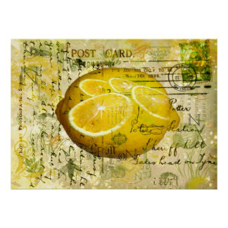 Postcard Lemons Poster