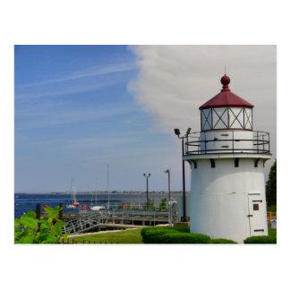 Postcard Lighthouse Newburyport Harbor Range Front