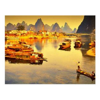 Postcard Lijiang To rivet in Guilin, Clouded