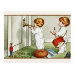 "Postcard: Little Twins ""Wake Up it's Christmas!"""