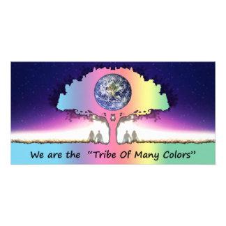 Postcard long Photocard Tribe Of Many Colors Bilder Karten