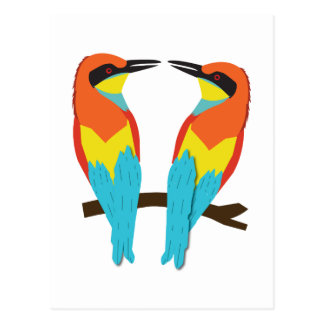 Postcard LOVE BIRDS