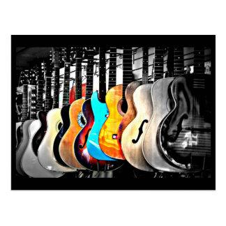 Postcard-Love the Arts-Guitars 2 Postcard
