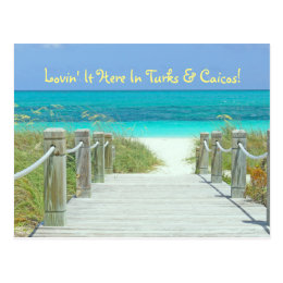 "postcard, ""LOVIN' IT HERE IN TURKS & CAICOS!"" Postcard"