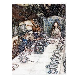 Postcard Mad Hatter Tea Party - Rackham