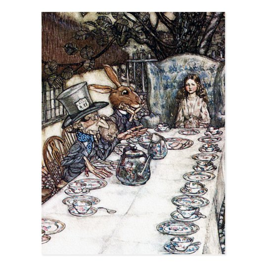 Postcard: Mad Hatter Tea Party - Rackham Postcard