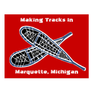 Postcard ~ Making Tracks Snowshoes Snowshoeing