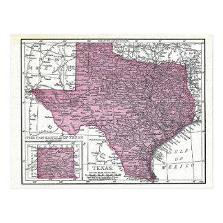 Postcard:  Map of Texas, 1921 Postcard