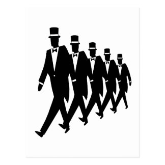 Postcard: March of the Tuxes