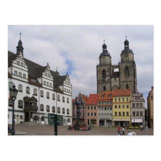 Postcard Marketplace in Wittenberg, Germany